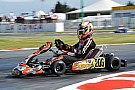 Kart Hiltbrand wins second European Championship round amid last-lap chaos