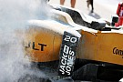 Formula 1 Malaysia practice halted due to Magnussen fire