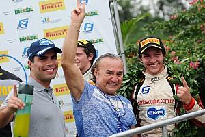 Fórmula 3 Brasil Relato da corrida Cunha triunfa após câmbio de Iorio quebrar no Velopark