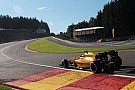 Magnussen crash brings Belgian GP to a halt