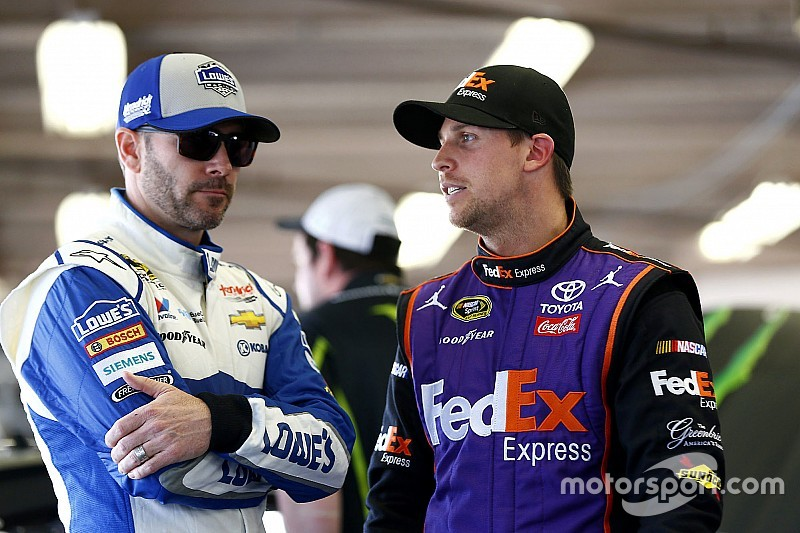 Johnson, Hamlin lead Friday practice sessions