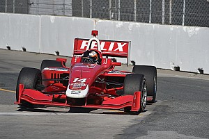 Indy Lights Qualifying report Rosenqvist takes pole at Toronto