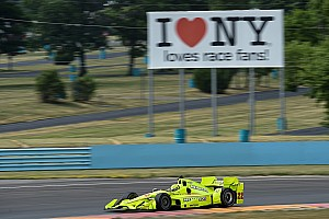 "IndyCar Testing report Drivers welcome ""physically challenging"" Watkins Glen"