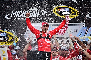 NASCAR Sprint Cup Race report Kyle Larson earns first ever Sprint Cup win at Michigan