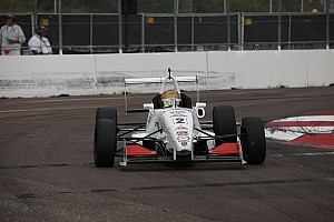 USF2000 Qualifying report Thompson takes pole in tight fight at Barber