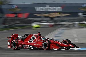 IndyCar Practice report Rahal tops warmup at IMS