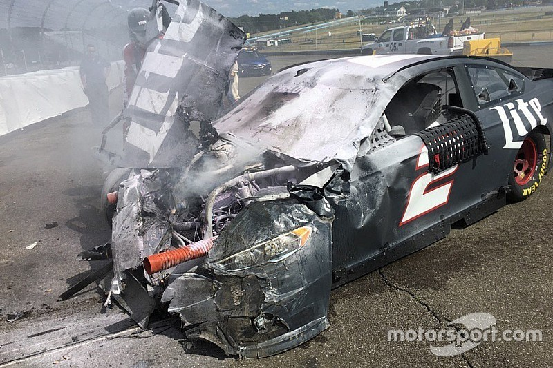 Brad keselowski only so many hits like his before for Watkins motor lines tracking