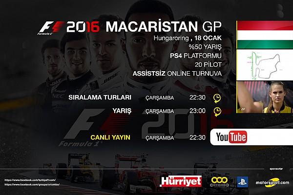 SİMÜLASYON DÜNYASI Son dakika F1 2016 online turnuva: Macaristan GP - Canlı Yayın