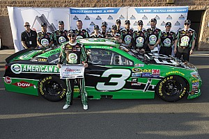 NASCAR Sprint Cup Qualifying report Austin Dillon swipes Fontana pole from Kevin Harvick