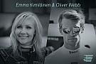 EGT Oliver Webb ed Emma Kimiläinen fra le Tesla da corsa