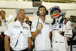 Fritz Enzinger, Mark Webber, Brendon Hartley, Porsche Team