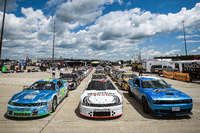 NASCAR Canada Photos - Cars lined up on the false grid