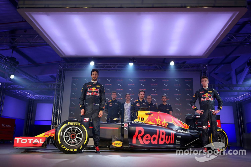 Daniel Ricciardo And Daniil Kvyat With The Red Bull Racing