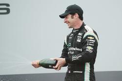 Second place Simon Pagenaud, Team Penske Chevrolet