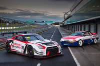 Australian GT Photos - The current Nissan GT-R NISMO GT3 with the 1991 GT-R