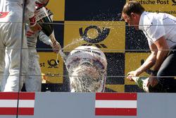 Podium: Timo Glock, BMW Team RMG, BMW M4 DTM and Stefan Reinhold , BMW Team RMG