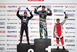 Podium: winner Vaughn Gittin Jr., second place Chris Forsberg, third place Alex Heilbrunn
