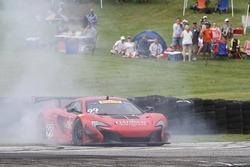 #99 Gainsco/Bob Stallings Racing McLaren 650S GT3: Jon Fogarty spins