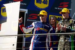 Podium: second place Mark Winterbottom, Prodrive Racing Australia Ford, third place Scott Pye, Team Penske Ford