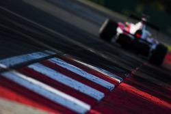 ART Grand Prix car drives off the curbs