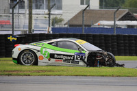 Ferrari Photos - #128 Gohm Motorsport Ferrari 458 Challenge Evo: Christian Kinch crash