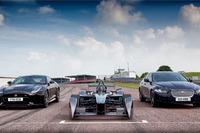 Formula E Photos - Jaguar Formula E, XE and F-Type SVR at Mallory Park