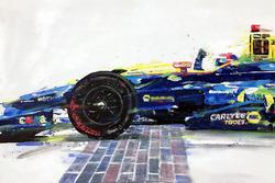 2016 Indy 500 finish - Alexander Rossi winner