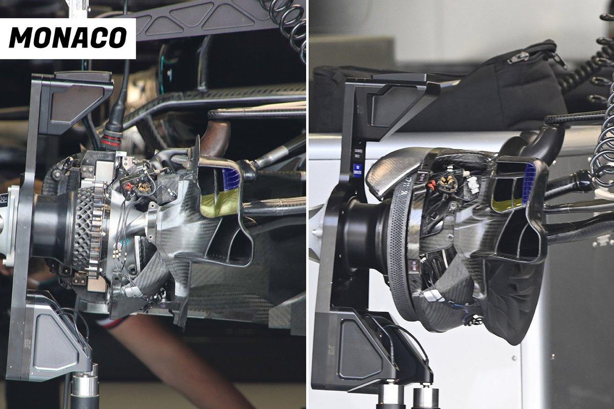 Mercedes W12 front brake duct comparison