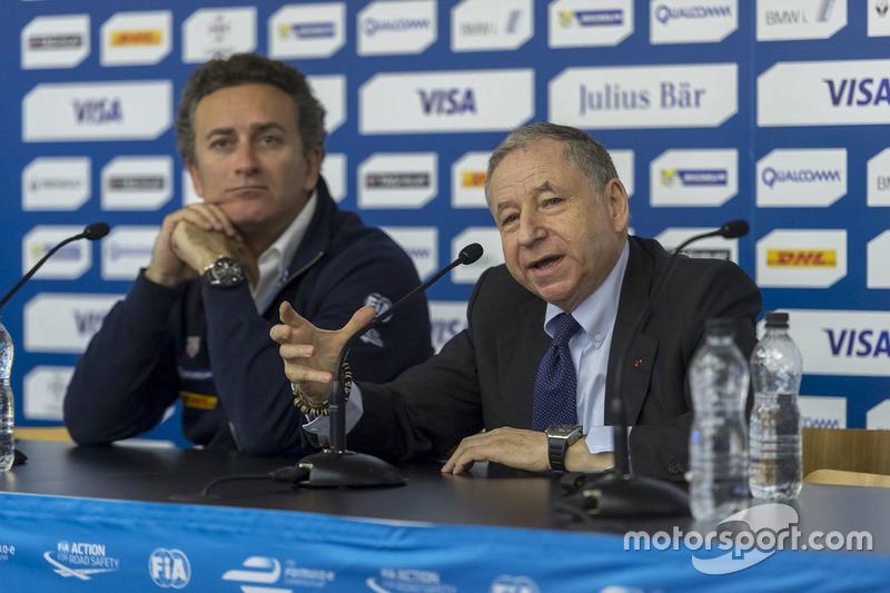 Alejandro Agag, Formula E CEO and Jean Todt, FIA President