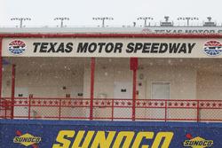 Rain falls on Texas Motor Speedway
