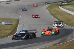 #10 Wayne Taylor Racing Corvette DP: Ricky Taylor, Jordan Taylor, #55 Mazda Motorsports Mazda Prototype: Jonathan Bomarito, Tristan Nunez