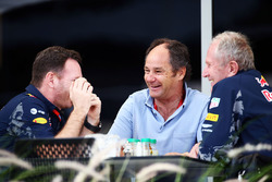 Christian Horner, Red Bull Racing Team Principal with Gerhard Berger and Dr Helmut Marko, Red Bull Motorsport Consultant