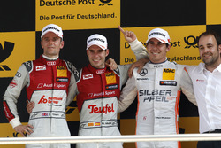 Podium: secon place Jamie Green, Audi Sport Team Rosberg, Audi RS 5 DTM; Winner Miguel Molina, Audi Sport Team Abt Sportsline, Audi RS 5 DTM; third place Robert Wickens, Mercedes-AMG Team HWA, Mercedes-AMG C63 DTM