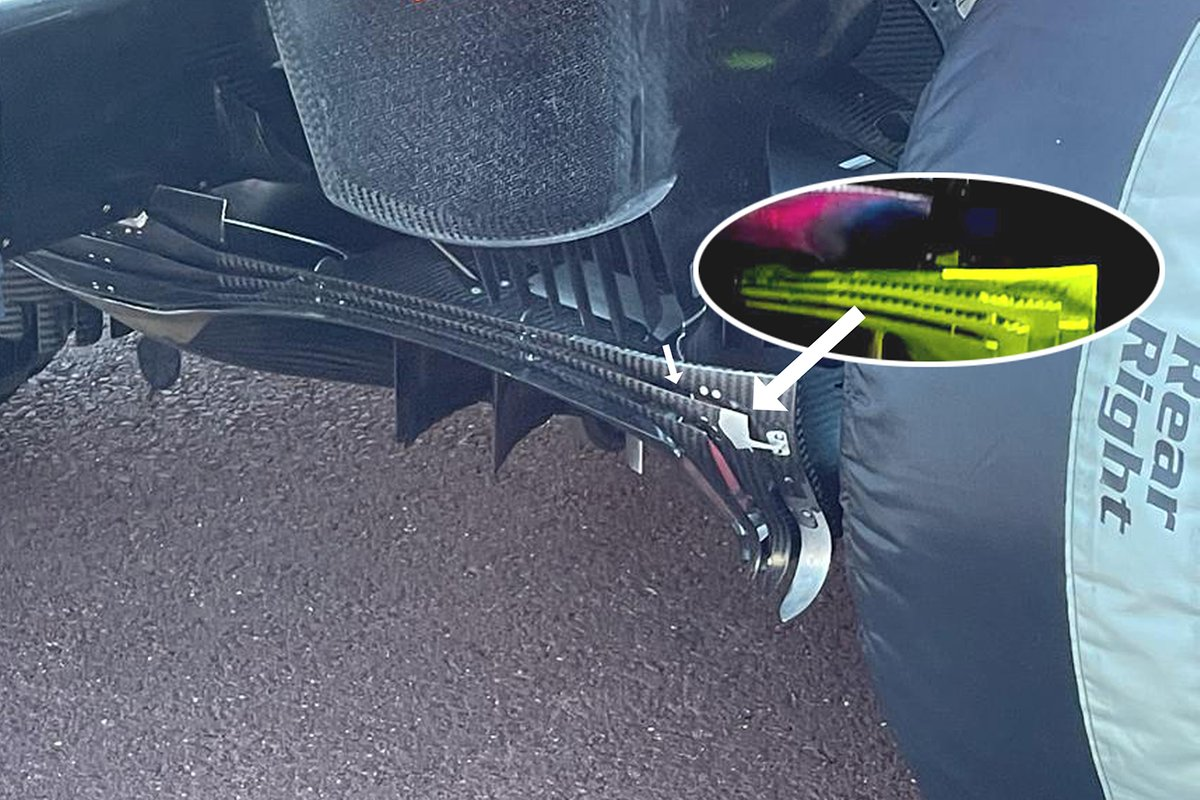 Red Bull Racing RB16B diffuser comparison
