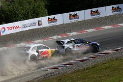 Johan Kristoffersson, Volkswagen Team Sweden; Mattias Ekström, EKS RX