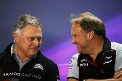 (L to R): Dave Ryan, Manor Racing Racing Director with Robert Fernley, Sahara Force India F1 Team Deputy Team Principal in the FIA Press Conference