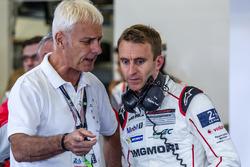 Matthias Müller, Chairman of the board Volkswagen AG, and #1 Porsche Team Porsche 919 Hybrid: Timo Bernhard