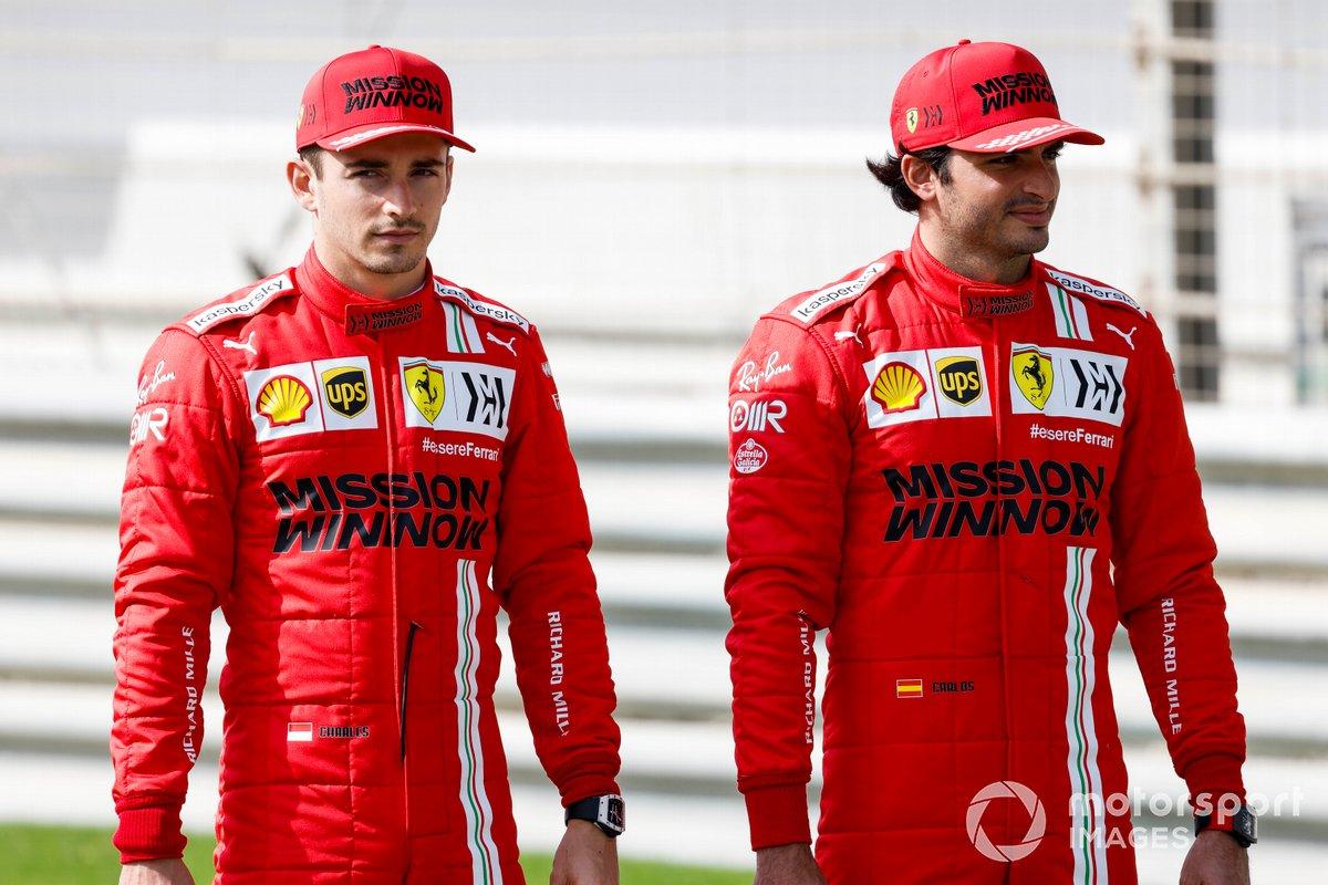 Charles Leclerc, Ferrari y Carlos Sainz Jr., Ferrari
