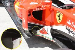 Ferrari SF16-H, bargeboards
