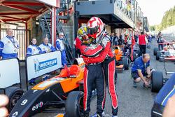 Race winner Hugo De Sadeleer, Tech 1 Racing with second place Dorian Boccolacci, Tech 1 Racing