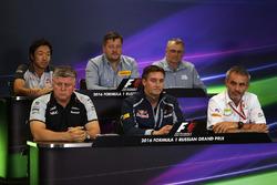 Press Conference: Ayao Komatsu, Haas F1 Team Race Engineer, Paul Hembery, Pirelli Motorsport Director, John McQuilliam, Manor Racing Technical Director, Otmar Szafnauer, Sahara Force India F1 Chief Operating Officer, James Key, Scuderia Toro Rosso Technica