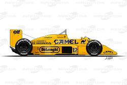 Lotus 99T driven by Ayrton Senna