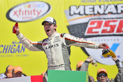 Race winner Daniel Suarez, Joe Gibbs Racing Toyota