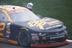 Brendan Gaughan, Richard Childress Racing Chevrolet after a crash
