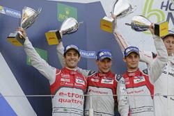 Second place #8 Audi Sport Team Joest Audi R18 e-tron quattro: Lucas di Grassi, Loic Duval, Oliver Jarvis