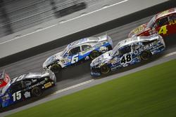 Darrell Wallace Jr., Roush Fenway Racing Ford, Brennan Poole, Chip Ganassi Racing Chevrolet