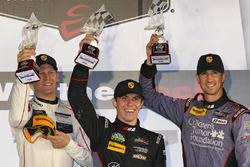 GT Daytona Podium: second place #73 Park Place Motorsports Porsche GT3 R: Patrick Lindsey, Jörg Bergmeister, Matt McMurry