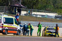 Lee Holdsworth, Team 18 Holden is taken away on a stretcher
