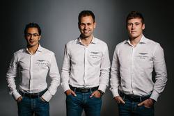 Richie Stanaway, Jonny Adam, Fernando Rees, Aston Martin Racing