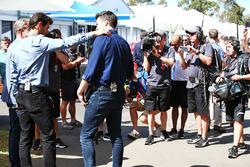 Steve Jones, Channel 4 F1 Presenter, Mark Webber, Porsche Team WEC Driver and Channel 4 Presenter